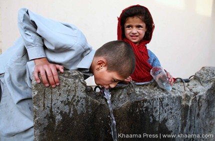 Child-drinking-water-Afghanistan